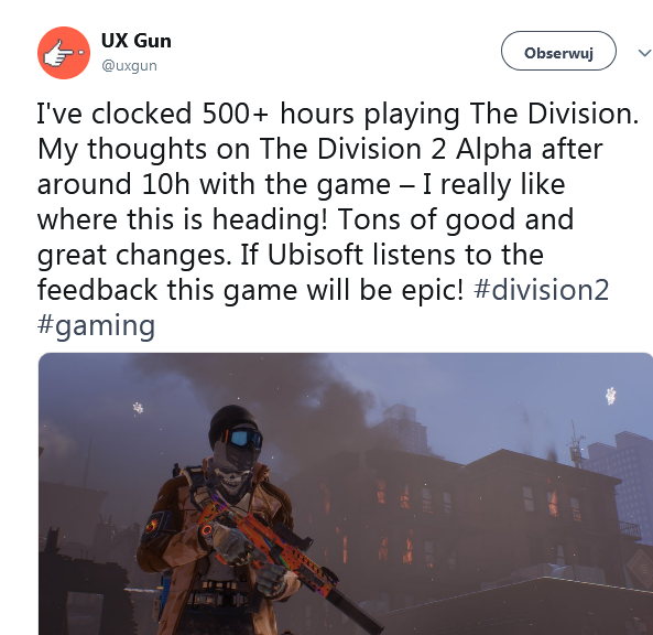 The Division 2 alpha-test
