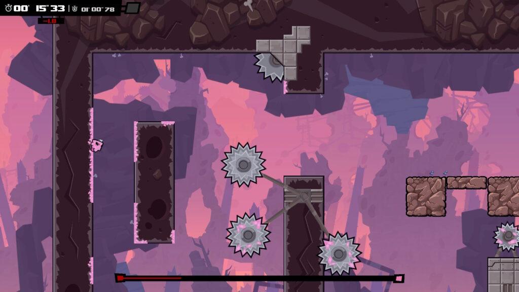 Niestety - Super Meat Boy Forever dostarcza dużo mniej frajdy znowym gameplayem
