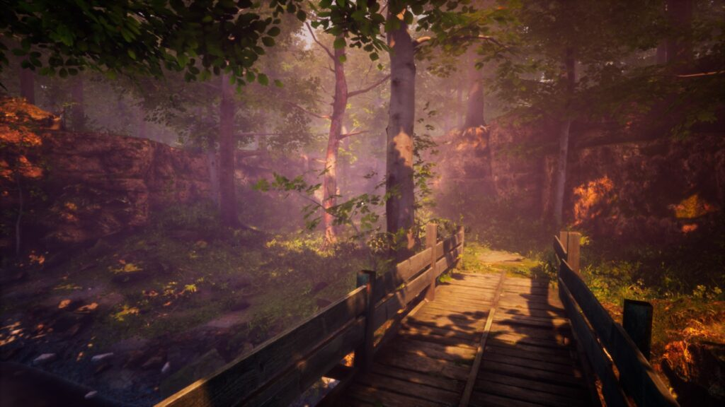 The Fabled Woods ma wsobie parę naprawdę ładnych widoków.